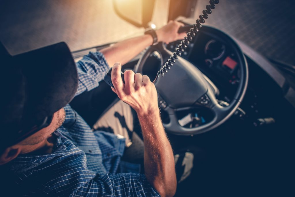 man operating a truck